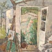 Otto Niemeyer-Holstein (1896 Kitzeberg - 1984 Lüttenort) Malende in der Vigna. Schätzpreis:6.200 - 7.200 EUR
