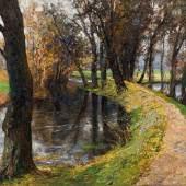 Olga Wisinger-Florian Der Fürstenweg in Raitz (Südmähren), 1907, Schätzpreis:50.000 - 100.000 EUR