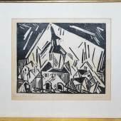 """Lyonel Feininger, """"Zottelstedt"""", Holzschnitt von 1918/19, signiert und bezeichnet, Aufrufpreis:1.500 EUR Schätzpreis:3.600 - 3.800 EUR"""