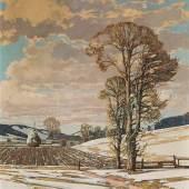 Josef Stoitzner * Landschaft bei Sittendorf im Wienerwald, um 1920, Schätzpreis:10.000 - 20.000 EUR