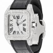 Cartier Herrenuhr Santos 100, Automatic, Mindestpreis:8.500 EUR