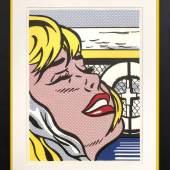 """Roy Lichtenstein (1923 New York - 1997 ebenda) """"Shipboard girl"""" (Mädchen auf dem Schiffsdeck). Mindestpreis:12.500 EUR"""