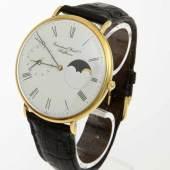 Große IWC-Armbanduhr Portofino mit Mondphase Gehäuse und Orig.-Dornschließe aus Gelbgold 750.  Aufrufpreis:6.500 EUR