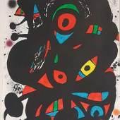 """Miró, Jean (1893-1983) - Sans Titre, Original Lithographie aus dem Mappenwerk """"Strindberg Mappen"""" 1976 Aufrufpreis:5.500 EUR"""