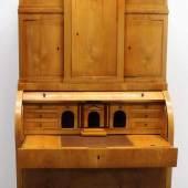 Zylinder-Aufsatzsekretär, Norddeutschland, um 1820, Esche, Mindestpreis:2.500 EUR