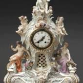 Pendule Triumph der Juno Königliche und Staatliche Porzellan Manufaktur, Meissen 1850-1924. Porzellan, weiß, glasiert. Zuschlagspreis:6.500 EUR