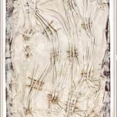 Herbert Zangs (1924-2003), große Arbeit von 1954 mit geweißtem Laken, gespickt von Nägeln Mindestpreis:3.000 EUR