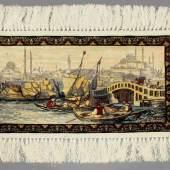 "Özipek-Hereke, Türkei, ""Istanbul"", Seide, 20 x 35 cm, 400 Knoten/cm² (laut vorliegendem Zertifikat) Mindestpreis:700 EUR"