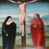 Coffermans (zugeschr.), Marcellus (* 1520/30, † um 1575): Christus am Kreuze Christus mit der Dornenkrone bekrönt am Kreuze Mindestpreis:2.500 EUR