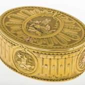 Hochfeine Goldtabatiere Gelbgold 900 (geprüft). Ovaler Korpus. Aufrufpreis:3.000 EUR
