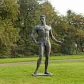 """Arno Breker (1900 Elberfeld - 1991 Düsseldorf) """"Der Wager"""". Originaltitel Bronze, patiniert, 1939. Sign. Mindestpreis:125.000 EUR"""