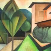 Hans Brass (1885 Wesel - 1959 Berlin) Terrassen. Schätzpreis:6.500 - 8.500 EUR