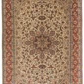 """Isfahan-Mamouri Z-Persien, um 1910. Unten signiert mit """"Persien Isfahan Mamouri Fabrik"""". Schätzpreis:8.000 - 10.000 CHF"""
