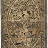 Isfahan Z-Persien, um 1880. Sehr feine Knüpfung und aussergewöhnliche Musterung. Schätzpreis:3.000 - 4.000 CHF