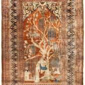 Heriz Seide NW-Persien, um 1880. Ausgefallene mythologische Szene. Schätzpreis:16.000 - 26.000 CHF