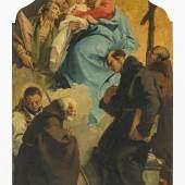 Tiepolo, Giovanni Battista 1696 Venedig - 1770 Madrid - und Werkstatt Die Madonna in den Wolken. Schätzpreis:30.000 - 50.000 EUR