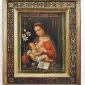 "Raibolini, Giacomo (Bologna 1484/86 - 1557 Bologna, genannt ""Il Francia"" attr. Gemälde ""Maria lactans"" , Mindestpreis: 5.000 EUR"