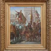 """Bauer (19.Jh.) """"Krönungs-Zeremonie Kaiser Franz Joseph I"""" zum König von Ungarn 1867 Mindestpreis:2.500 EURin Budapest"""