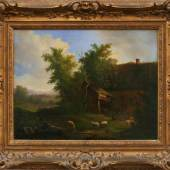 "Verboeckhoven, Eugène (1799 Warneton - 1881 Brüssel) ""Blick in weite Landschaft"", Mindestpreis:4.000 EUR"