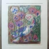 """Dix, Otto (1891 Gera - 1969 Singen) """"Katze im Mohnfeld"""", Mindestpreis:7.000 EUR"""