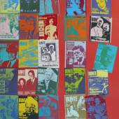 """Warhol, Andy (1928 Pittsburgh - 1987 New York City) """"Magazine and History"""" ; Farbserigraphie 1983 Mindestpreis:5.000 EUR"""
