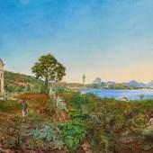 Otto Grashof Brasilianische Landschaft bei Rio de Janeiro Öl auf Leinwand 66 x 100cm Taxe: 45.000 - 60.000 Euro