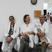 Los dadores de dolor - v.l.n.r. Arnold Reinisch, Niki Passath und Jani W. Schwob