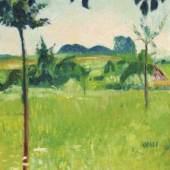 """Los 70 Cuno Amiet """"Landschaft bei Schwand"""". ZUSCHLAG: 65'000.-"""