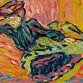 Lot 10 Ernst Ludwig Kirchner, Mädchen auf dem Diwan (Girl on a Divan), 1906 (est. £2,800,000 – 3,800,000)