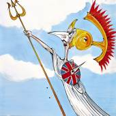 Lot 17, GERALD SCARFE TWO DODGY BREXITEERS RUN FOR IT!577 by 840mm, pen, ink and watercolour drawing £4,000-6,000