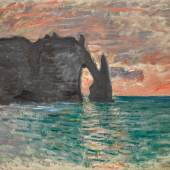 Lot 119 Claude Monet Étretat, coucher de soleil 1883 Oil on canvas est. $1,200,000-1,800,000 sold: $3,020,000