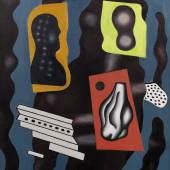 Lot 12 FERNAND LEGER (1881 – 1955) Composition d'objets Signed F.LEGER and dated 29 ; signed F.LEGER, titled Composition d'objets and dated 29 (on the reverse) Oil on canvas Painted in 1929 91,6 x 73 cm Estimate: 1 000 000-1 500 000 €