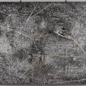 Lot 131- Anselm Kiefer, Walfisch, oil, acrylic, charcoal, wire and lead laid down on canvas, 2000, 195 by 333 cm