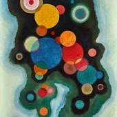 Lot 13 Wassily Kandinsky, Vertiefte Regung (Deepened Impulse), oil on canvas, 1928 (est. £5,500,000- 7,500,000)