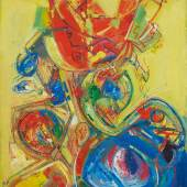Lot 14 Hans Hofmann Resurrection VII signed and dated 48 oil on panel 72 by 48 in. 183 by 121.9 cm. Executed in 1946-48. Estimate $400/600,000 Sold for $500,000