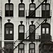 Lot 150 Harry Callahan Chicago (Windows And Fire Escape) flush-mounted to thick board, annotations in pencil and a 'Museum of Modern Art Study Collection' stamp on the reverse, 1949 7½ by 9½ in. (19.1 by 24.1 cm.) Estimate $30/50,000
