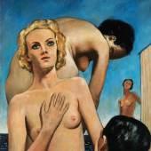 Francis Picabia, Les baigneuses, femmes nues bord de mer, oil on card, 1941 (est. £400,000-600,000)