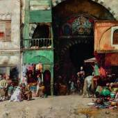 Alberto Pasini (Italian, 1826 – 1899) Market in Constantinople, oil on canvas Estimate £150,000-200,000 / $210,000-280,000