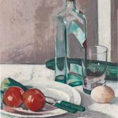 Lot 19 Francis Campbell Boileau Cadell, Still Life with Glass, Bottle and Egg, est. £100,000-150,000