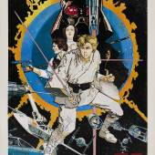 Lot 1 'Star Wars' poster, Howard Chaykin, US, 1976, signed by Mark Hamill (est.£5,000-8,000)
