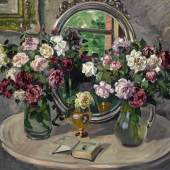 Lot 242, Alexander Gerasimov, Still Life with Flowers (est. £250,000-350,000)