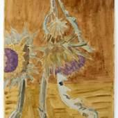 Lot 268 Erich Heckel 1883 Döbeln – 1970 Hemmenhofen Artischockenblüten Aquarell auf Papier; H 500 mm, B 328 mm Schätzpreis: 7.500 – 8.500