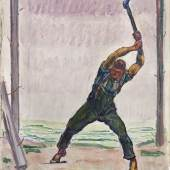 Lot 28 - Ferdinand Hodler - Der Holzfäller