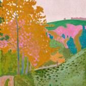 Lot 31 - Cuno Amiet, Herbstlandschaft - Herbst auf der Oschwand, 1906