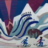 Ernst Ludwig Kirchner : Schneeberge mit Skiläufern CHF 1,215,000 / EUR 1,041,429