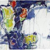 Lot 34 Standards of Excellence: The Blema and H. Arnold Steinberg Collection Sam Francis Untitled (Cool Violet) watercolor on paper 26 1/2 by 40 1/4 in. 67.3 by 102.2 cm. Estimate $200/300,000