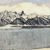 Ferdinand Hodler's Thunersee mit Stockhornkette im Winter CHF 4,292,400 / EUR 3,679,200