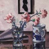 Francis Campbell Boileau Cadell Pink Carnations oil on panel Estimate £200,000-300,000