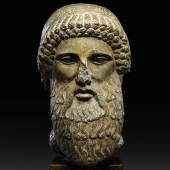 Lot 39 A Roman Black Marble Herm Head of Hermes, circa 2nd Century A.D.