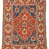 Lot 41, Transylvanian rug with Cartouche border, 17th century, Starting bid € 2000
